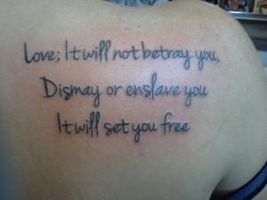 Mumford & Sons tattoo