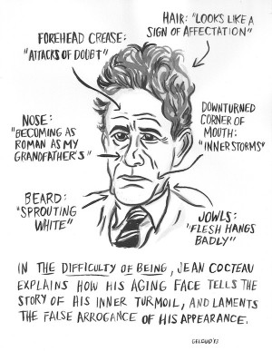The Difficulty of Being by Jean Cocteau. Illustration by Nathan Gelgud ...