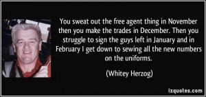 More Whitey Herzog Quotes