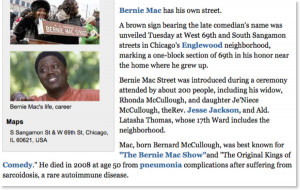 Bernie Mac Street: Section of 69th Street in Englewood named in late ...