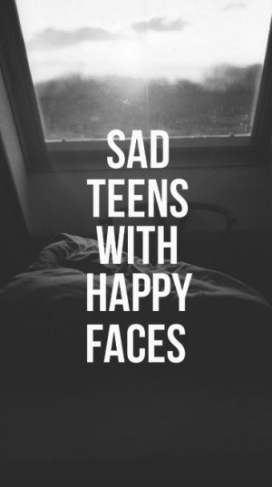 quote Black and White life happy depression sad words view teens ...