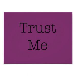 Trust Me Quotes Inspirational Purple Faith Quote Photo Art