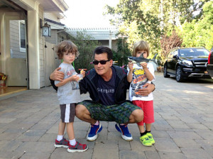 Charlie Sheen Shares Adorable Photo With Twins Bob and Max