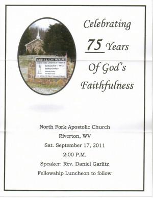 North Fork Apostolic Church 75th Anniversary