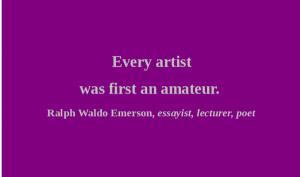 Artful Quote - Ralph Waldo Emerson - Day 294