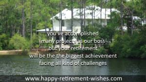 congratulations to retirement boss