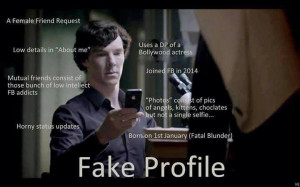 ... know if you encounter a fake Facebook profile now. Thanks to Sherlock