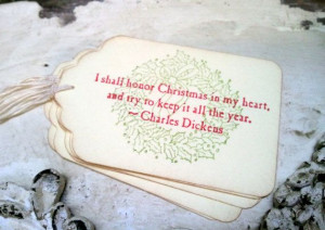 Christmas Tags Christmas Quotes Charles Dickens by 33PaperLane, $4.85