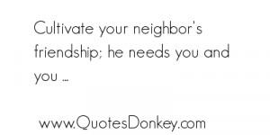Neighbor quote #1