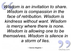 wisdom is an invitation to share