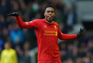 Daniel Sturridge Daniel Sturridge of Liverpool celebrates scoring his ...
