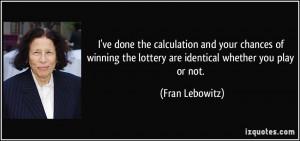 Winning Lottery Ticket...