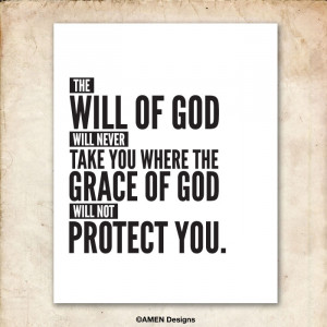 Will and Grace of God. Quote. Printable.