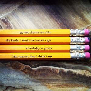 quotes, pencils