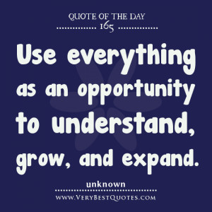 Opportunity quotes, Quote Of The Day, Use everything