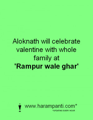 How Alok Nath will celebrate this valentine day ? - Picture Sarcasm