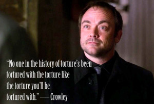 Amazing Crowley's quote from Supernatural, lol :