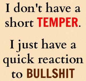 Short Temper Quotes