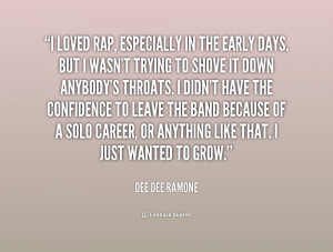 quote Dee Dee Ramone i loved rap especially in the early 1 212195 png