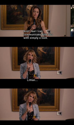 What is your favorite 'Bridesmaids' movie quote?