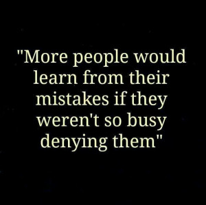 Learning from our mistakes