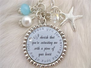 MOTHER of the GROOM Gift LOVE of my Life Inspirational quote Starfish ...