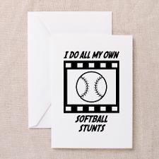 Softball Stunts Greeting Card for