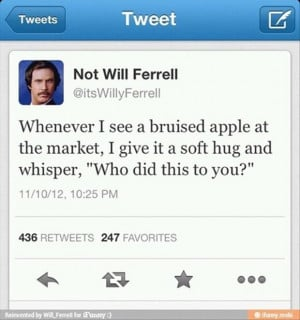 will ferrel tweets, funny twitter quotes