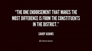 The one endorsement that makes the most difference is from the ...