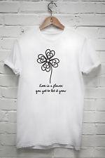 Love is a flower T-shirt John Lennon mind games lyrics quote gift ...