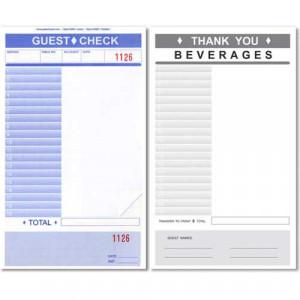 Blank Restaurant Receipts