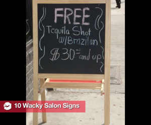 Funny Beauty Salon Signs