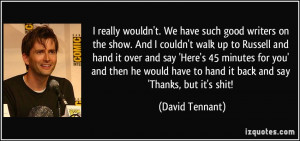 More David Tennant Quotes