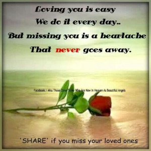 But missing you...