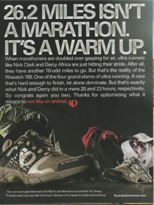 Ultra marathon...i'll take that challenge...sounds like fun to me