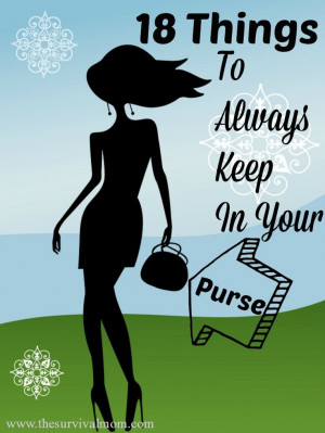 18 Things to have in your purse | via www.TheSurvivalMom.com