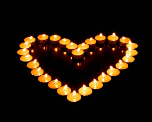 heart candles