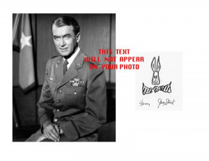 Details about General James Stewart Actor Photo w/ Printed Signature