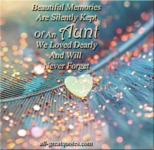 In Loving Memory Cards For Aunt – Of An Aunt We Loved Dearly