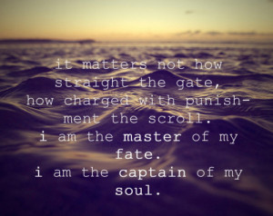 invictus, life, ocean, photography, poem, quote, typography