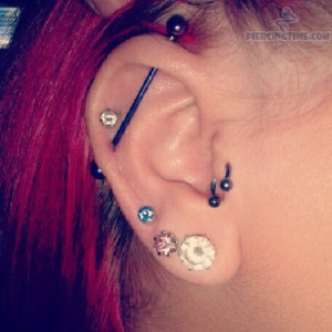 Industrial and Helix Piercing