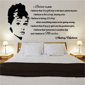 Audrey Hepburn Quote Design 1 Decal Wall Sticker (CFQ1)