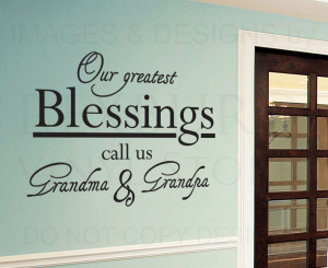 5pcs/lot Wall Decal Quote Sticker Vinyl Grandma and Grandpa Our ...
