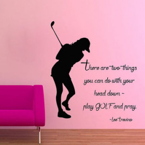 Wall Decals Vinyl Decal Sticker Sport People Quote Girl Playing Golf ...