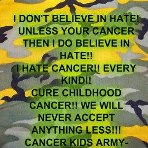 Hate cancer