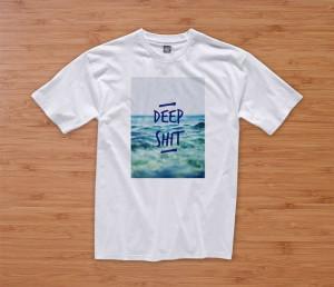 DEEP SHIT tshirt hipster dope tumblr prada chanel shirt quote
