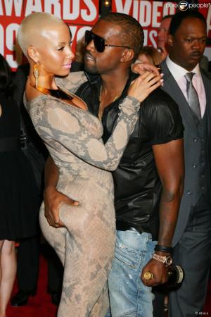 Amber Rose et Kanye West aux MTV Video Music Awards 2009 à New York ...
