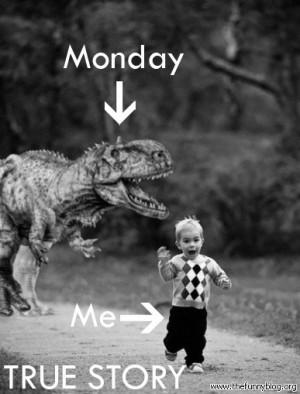 funny monday picture, Me vs Monday, True Story