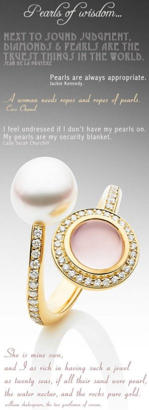 pearls+of+wisdom+quotes+chanel+kennedy+shakespeare+rose+quartz+gold ...