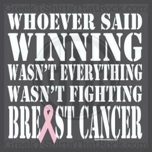 Breast cancer quotes, positive, inspiring, sayings, winning